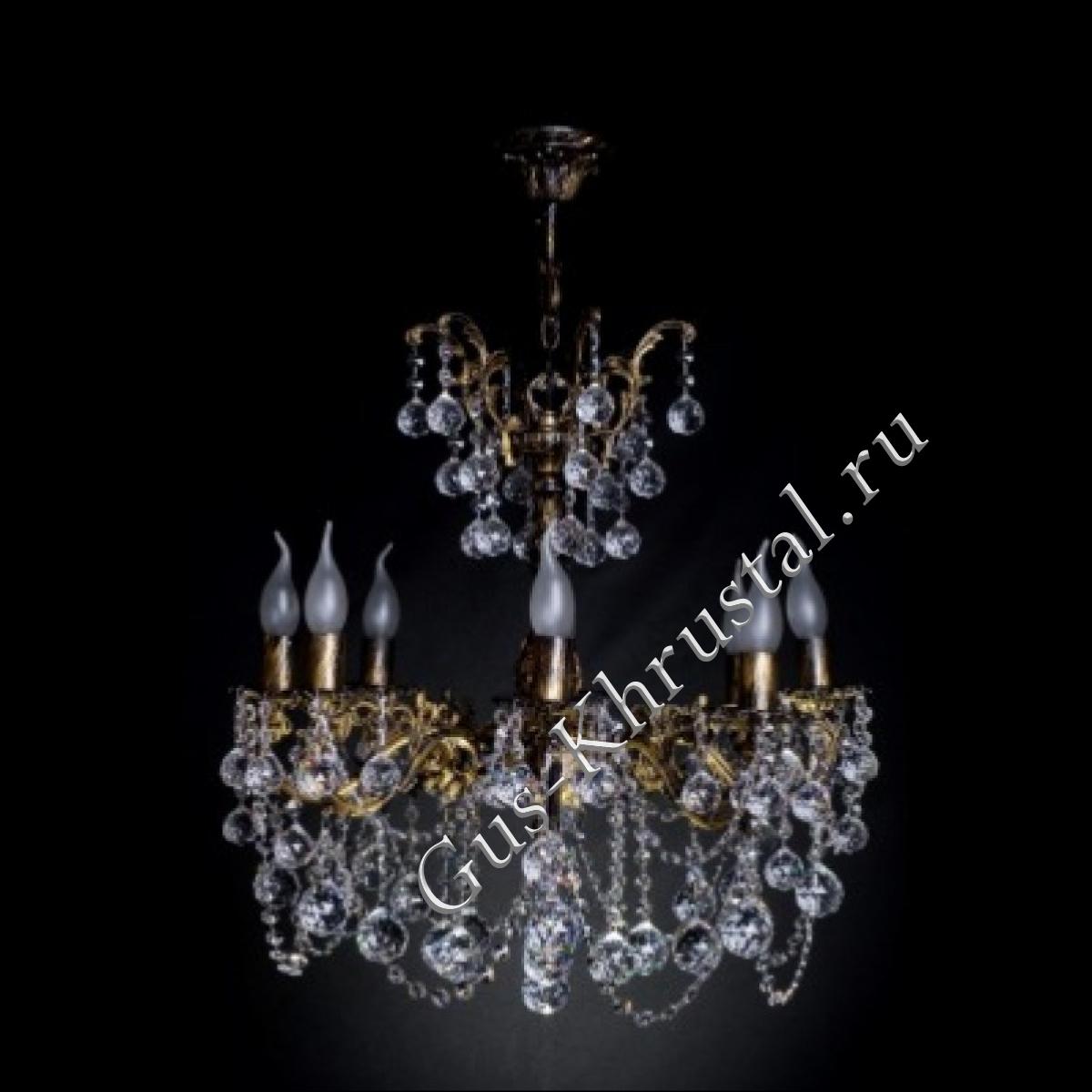 Люстра бронзовая № 2 (8 ламп)